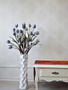 1 Gren Polyester Plast Tulpaner Golvväxt Konstgjorda blommor 100(39.3\'\')