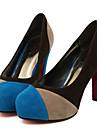 Homme-Mariage Bureau & Travail Habille Decontracte Soiree & Evenement-Bleu Rouge-Talon Aiguille Plateforme-A Plateau Confort Nouveaute A