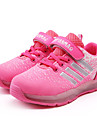 Fille-Sport-Rose-Talon Plat-Confort Light Up Chaussures-Baskets-Tulle Polyurethane