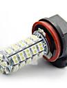 2x 68-smd bil xenon vita LED h11 dimma driver DRL lampa ljus lampor 12v 6000K