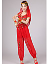 Belly Dance Outfits Women\'s Performance Viscose Sequins 3 Pieces Belly Dance Sleeveless Natural Top / Pants / Headpieces