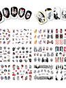 12 Autocollant d\'art de clou Bouts  pour ongles entiers Bijoux pour ongles Bande dessinee Adorable Maquillage cosmetique Nail Art Design