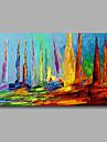 HANDMÅLAD Abstrakt Landskap olje~~POS=TRUNC,Moderna En panel Kanvas Hang målad oljemålning For Hem-dekoration