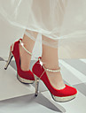 Homme-Exterieure Bureau & Travail Decontracte-Noir Rouge Blanc-Talon Aiguille-club de Chaussures Light Up Chaussures-Chaussures a Talons-