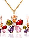 Bijuterii Coliere / Σκουλαρίκια Seturi de bijuterii de mireasă Nuntă / Petrecere 1set Dame Culori Asortate Cadouri de nunta