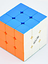Qiyi® Cube de Vitesse  3*3*3 Vitesse Niveau professionnel Cubes magiques Arc-en-ciel guerrier Anti-pop ressort reglable ABS