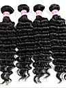 Tissages de cheveux humains Cheveux Indiens Ondulation profonde 12 mois 4 Pieces tissages de cheveux
