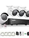 sannce® 4ch HD 1.3 MP în aer liber de rețea sistem de camera kit de securitate IP 960p NVR poe acasă