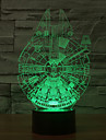 star wars Millennium Falcon 3D LED nattlampa 7colorful dekoration atmosfär lampa nyhet belysning jul ljus