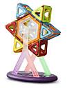blocs de construction magnetiques des jouets educatifs pour les enfants 34 pilules magnetiques 15 pieces de couleur arc-en-carte