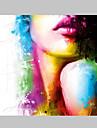 iarts®fashion skönhet grimma topp sexiga läppar oljemålning färgglada mönster fin väggkonst