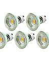 5W GU10 LED-spotlights MR16 1 COB 500LM lm Varmvit / Kallvit Dimbar AC 110-130 / AC 100-240 V 5 st