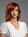 ondulado natural peruca encantadora com franja virgem do cabelo humano cor secundaria de 14 polegadas