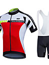 Fastcute® Cycling Jersey with Bib Shorts Women\'s / Men\'s / Unisex Short Sleeve BikeBreathable / Quick Dry / Moisture Permeability / 3D