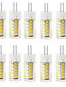 6W G4 LED-lampor med G-sockel T 33 SMD 2835 400-500 lm Varmvit / Kallvit Dekorativ / Vattentät AC 220-240 V 10 st