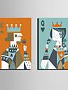 Personnage / Fantaisie Toile Deux Panneaux Pret a accrocher , Format Vertical