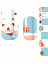 14Pcs/Sheet Nail Sticker Art Autocollants 3D pour ongles Bande dessinee / Adorable Maquillage cosmetique Nail Art Design