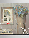 modern stil fisk blommig väggklocka i canvas