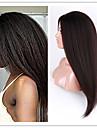 evawigs afro kinky rakt brasiliansk människohår u del spets front peruk naturligt svart färg 12-26 tum