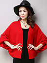 Women\'s Wrap Shrugs Long Sleeve Voile Black / Yellow / Gray / Red Wedding / Party/Evening / Casual Shawl