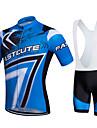Fastcute® Cykeltröja med Bib-shorts Dam / Herr / Unisex Kort ärm CykelAndningsfunktion / Snabb tork / Fuktgenomtränglighet / 3D Pad /