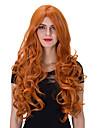 den europeiska och amerikanska mode apelsin långt lockigt hår