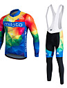 Miloto® Maillot et Cuissard Long a Bretelles de Cyclisme Homme / Unisexe Manches longues VeloRespirable / Sechage rapide / Permeabilite a
