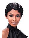couleur noire court boucles europeen capless perruques synthetiques pour les femmes afro