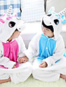 kigurumi Pyjamas Unicorn Collant/Combinaison Fete / Celebration Pyjamas Animale Halloween Incarnadin / Bleu Mosaique Flanelle Kigurumi
