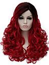 Perruques sans bonnet Perruques pour femmes Noir rouge Perruques de Costume Perruques de Cosplay