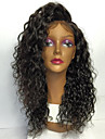 8a fullt spets människohår peruker för kvinnor 130% densitet brasiliansk kinky lockigt människohår peruk med baby hår