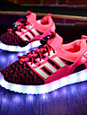 Fille-Sport-Rouge-Talon Plat-Light Up Chaussures Confort-Baskets-Tissu