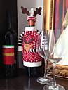 jul rådjur älg stil rött vin champagneflaska omfattar väska för nytt år jul dekorationer prydnad