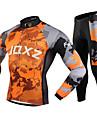 FJQXZ® Veste avec Pantalon de Cyclisme Homme Manches longues VeloGarder au chaud / Pare-vent / Anti-flou / Lisse / Confortable / Ecran