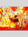 HANDMÅLAD Abstrakt olje~~POS=TRUNC,Medelhavet / Parfymerad / Europeisk Stil / Moderna / Klassisk / Traditionellt / Realism En panel Kanvas