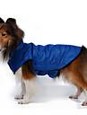 Hundar Kappor Väst Röd Orange Gul Blå Svart Ros Hundkläder Vinter Vår/Höst Enfärgat Vindtät Håller värmen