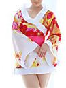 Feminin Uniforme & Cheongsams / Capoate / Ultra Sexy Pijamale Polyester Imprimeu Roșu / Negru
