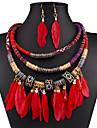 Set bijuterii La modă Sexy Negru Rosu Albastru Colier / cercei Nuntă Petrecere Zilnic Casual 1set Coliere Σκουλαρίκια Cadouri de nunta