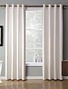 Două Panouri Tratamentul fereastră Modern , Solid Dormitor Poliester Material Blackout Perdele Draperii Pagina de decorare For Fereastră