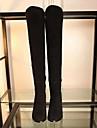 Dame Cizme Primăvară / Toamnă / Iarnă Pantofi la Modă Piele de Căprioară Outdoor Toc Gros Altele Negru / Burgundia Others