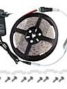 Kit de bande LED -3.528 -300 Leds ip65 comprend la puissance 3a alimentation (36 watts) et gradateur - connecteur de lumiere de bande