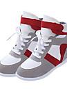 Homme-Exterieure / Decontracte-Noir / Gris-Talon Compense-Compensees-Sneakers-Toile