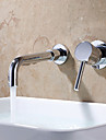 Contemporain Montage mural large spary with  Valve en ceramique Mitigeur deux trous for  Chrome , Robinet lavabo