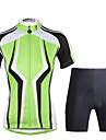 PALADIN® Maillot et Cuissard de Cyclisme Femme Manches courtes VeloRespirable / Sechage rapide / Resistant aux ultraviolets / Compression