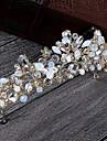 Femei Ștras Aliaj Imitație de Perle Diadema-Nuntă Ocazie specială Informal Tiare 1 Bucată
