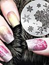 2016 senaste versionen mode jul mönster nail art stämpling bild mall plattor