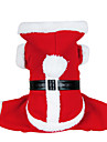 Chien Costume / Manteaux / Pulls a capuche Rouge Vetements pour Chien Hiver Couleur Pleine Mignon / Cosplay / Noel
