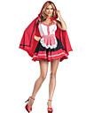 Cosplay Kostymer/Dräkter / Festklädsel Oktoberfest Festival/Högtid Halloween Kostymer Röd / Vit / svart Tryck Klänning / Kappa Halloween