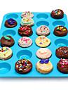 24 cavitate tavă tigaie mucegai silicon brioșă Cupcake cookie de ciocolata de copt mucegai culoare aleatorii