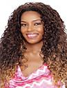 style long afro brun cheveux boucles et de couleur jaune perruques synthetiques pour les femmes